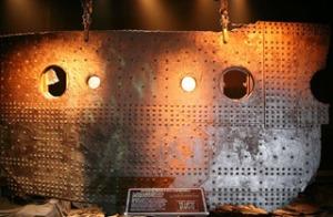 titanic hull wreckage