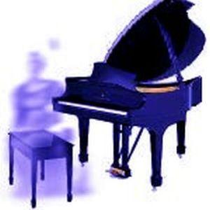 ghost at piano
